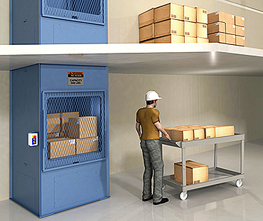 cleveland akron package handling lifts, freight lifts