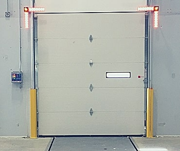 warehouse truck dock door edge lights
