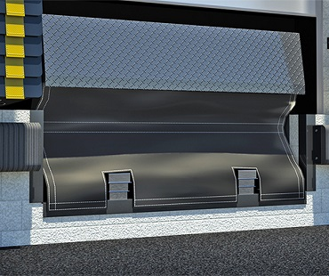 loading dock leveler pit draft curtain