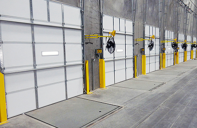 cleveland akron loading dock door track guards