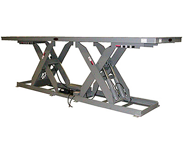 cleveland double long lift table, copperloy lift tables cleveland