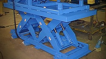 cleveland akron material lift table, freight lift