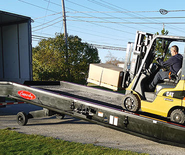 Steel Mobile Truck Trailer Dock Ramp Cleveland Akron