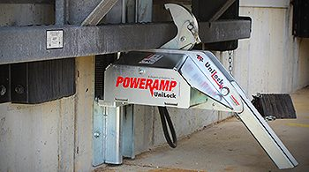 cleveland dock locks, trailer restraints, loading dock restraints, poweramp, unilock